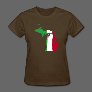 Michigan Italian Flag - Women's T-Shirt