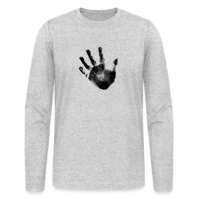 Black Handprint Graphic Design for Men and Teen long sleeve shirt 1022582fb16