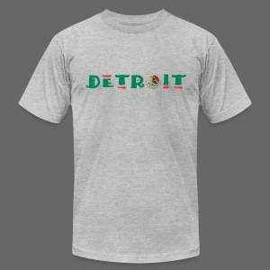 Detroit Mexican Flag - Men's T-Shirt by American Apparel