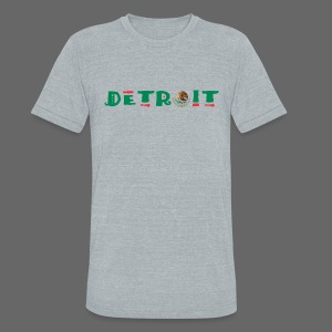 Detroit Mexican Flag - Unisex Tri-Blend T-Shirt by American Apparel