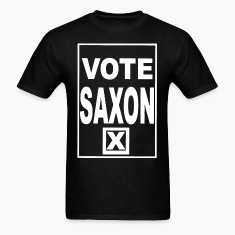 Vote Saxon (white text) Men's