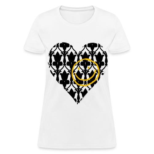 Heart Wallpaper Smiley (Women)  - Women's T-Shirt
