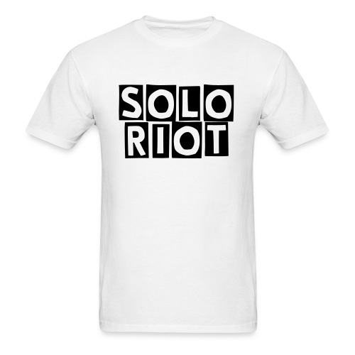 White Solo Riot Shirt - Men's T-Shirt
