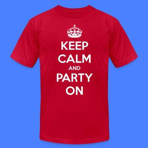 Keep Calm And Party On T-Shirts - stayflyclothing.com - Men's T-Shirt by American Apparel