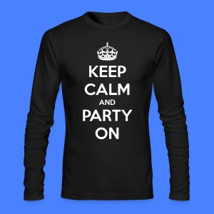 Keep Calm And Party On Long Sleeve Shirts - stayflyclothing.com - Men's Long Sleeve T-Shirt by Next Level
