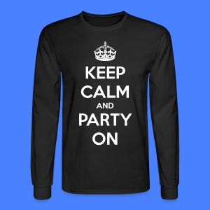 Keep Calm And Party On Long Sleeve Shirts - stayflyclothing.com - Men's Long Sleeve T-Shirt