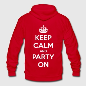 Keep Calm And Party On Zip Hoodies/Jackets - stayflyclothing.com - Unisex Fleece Zip Hoodie by American Apparel