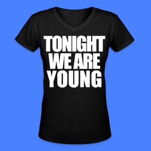 Tonight We Are Young Women's T-Shirts - stayflyclothing.com - Women's V-Neck T-Shirt