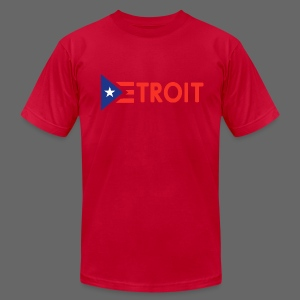 Detroit Puerto Rican Flag - Men's T-Shirt by American Apparel