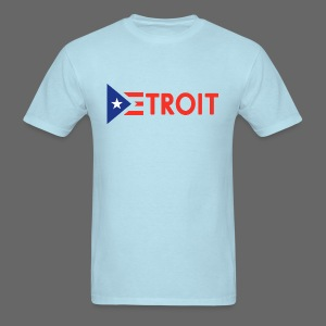 Detroit Puerto Rican Flag - Men's T-Shirt