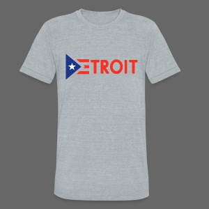 Detroit Puerto Rican Flag - Unisex Tri-Blend T-Shirt by American Apparel