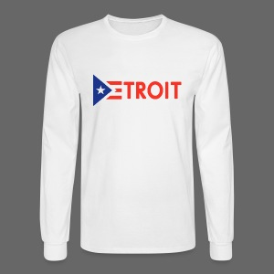 Detroit Puerto Rican Flag - Men's Long Sleeve T-Shirt