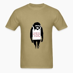 Banksy Laugh Now Monkey T-Shirts
