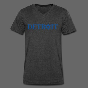 Detroit Israeli Flag - Men's V-Neck T-Shirt by Canvas