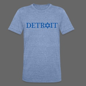 Detroit Israeli Flag - Unisex Tri-Blend T-Shirt by American Apparel