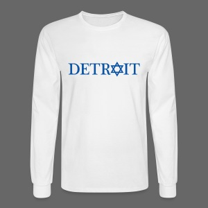 Detroit Israeli Flag - Men's Long Sleeve T-Shirt