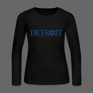 Detroit Israeli Flag - Women's Long Sleeve Jersey T-Shirt