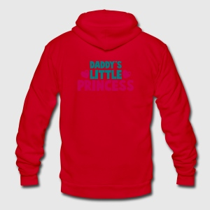 daddy's little princess with love hearts Zip Hoodies/Jackets - Unisex Fleece Zip Hoodie by American Apparel
