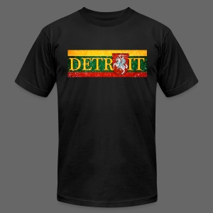Detroit Lithuanian Flag - Men's T-Shirt by American Apparel