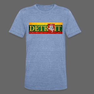 Detroit Lithuanian Flag - Unisex Tri-Blend T-Shirt by American Apparel
