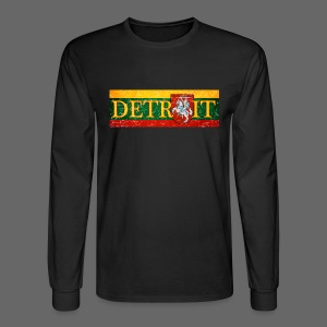 Detroit Lithuanian Flag - Men's Long Sleeve T-Shirt