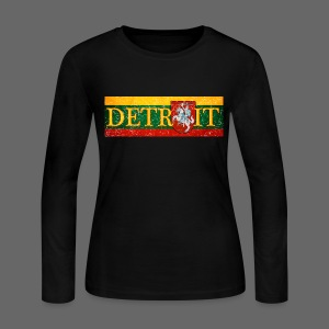 Detroit Lithuanian Flag - Women's Long Sleeve Jersey T-Shirt