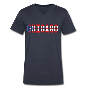 Chicago Rican - Men's V-Neck T-Shirt by Canvas