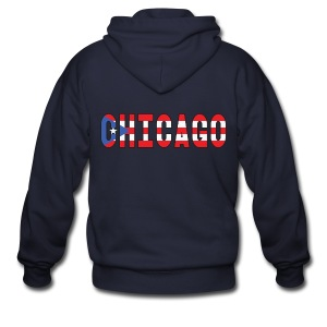 Chicago Rican - Men's Zip Hoodie