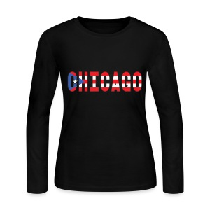 Chicago Rican - Women's Long Sleeve Jersey T-Shirt