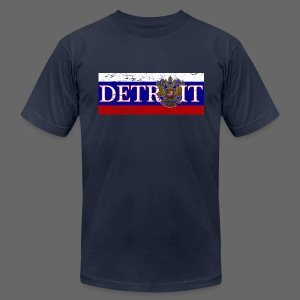 Detroit Russian Flag - Men's T-Shirt by American Apparel
