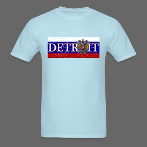 Detroit Russian Flag - Men's T-Shirt