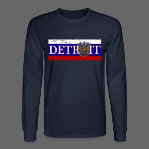 Detroit Russian Flag - Men's Long Sleeve T-Shirt