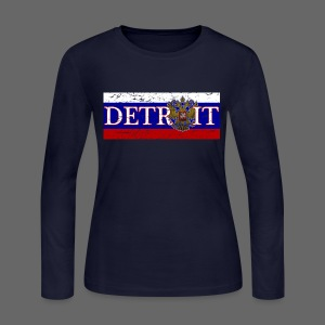 Detroit Russian Flag - Women's Long Sleeve Jersey T-Shirt