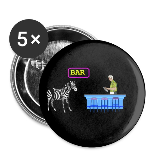 Zebra Humor Bar pin - Small Buttons