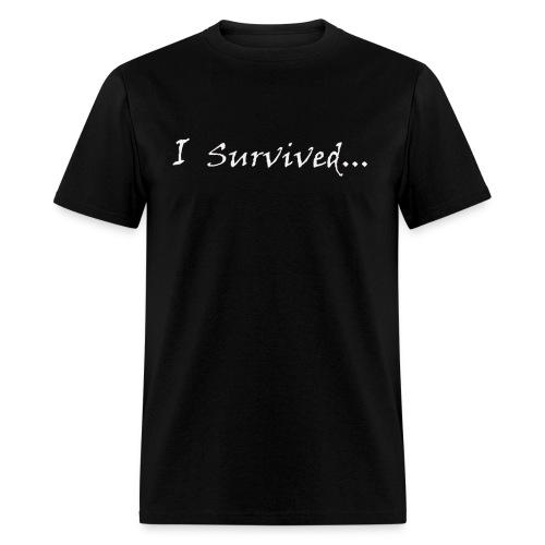 Men's Standard T-Shirt - I Survived... - Black/White - Men's T-Shirt