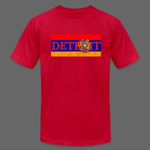 Detroit Armenian Flag - Men's T-Shirt by American Apparel