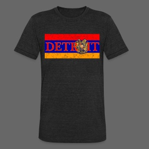 Detroit Armenian Flag - Unisex Tri-Blend T-Shirt by American Apparel