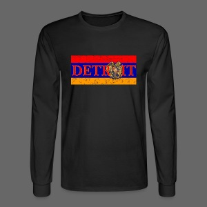 Detroit Armenian Flag - Men's Long Sleeve T-Shirt