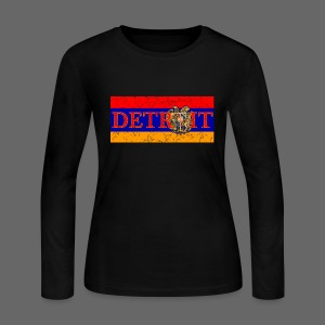 Detroit Armenian Flag - Women's Long Sleeve Jersey T-Shirt