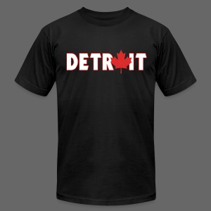 Detroit Canadian Flag - Men's T-Shirt by American Apparel