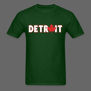 Detroit Canadian Flag - Men's T-Shirt