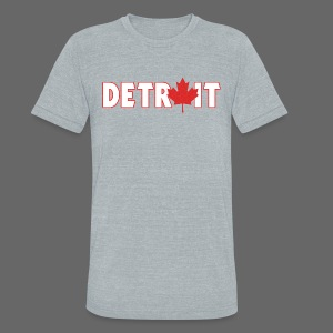 Detroit Canadian Flag - Unisex Tri-Blend T-Shirt by American Apparel