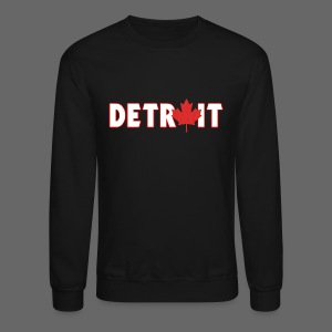 Detroit Canadian Flag - Crewneck Sweatshirt