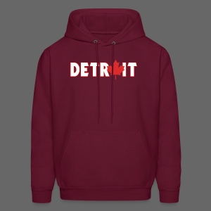 Detroit Canadian Flag - Men's Hoodie