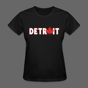 Detroit Canadian Flag - Women's T-Shirt