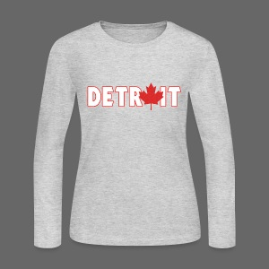 Detroit Canadian Flag - Women's Long Sleeve Jersey T-Shirt