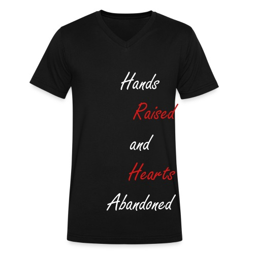 Raised Hearts - Men's V-Neck T-Shirt by Canvas
