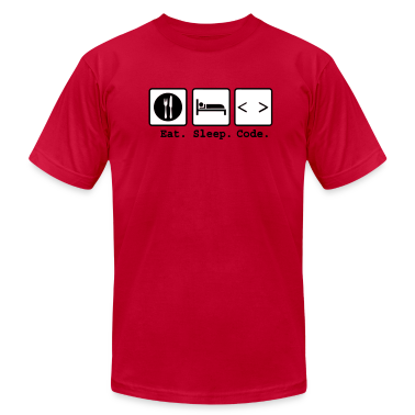 eat sleep code Nerd Wear T-Shirts