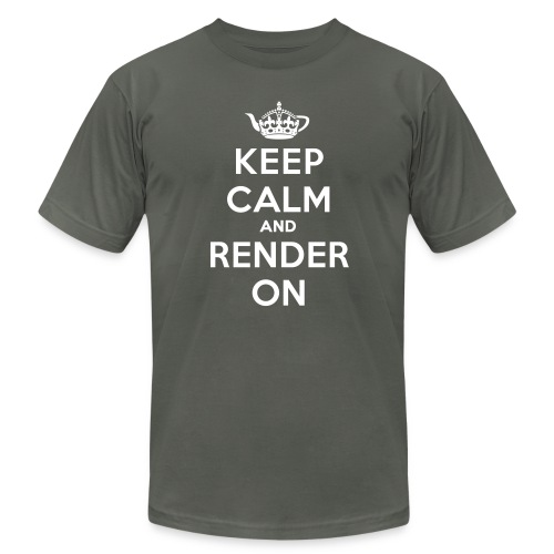 Keep calm and render on - Men's  Jersey T-Shirt