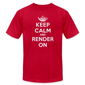 Keep calm and render on - Men's Fine Jersey T-Shirt